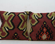 16 X 16and039and039 Set Of 2 Cushion Covers Natural Vintage Kilim Pillow Cover Sofa Decor
