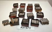 One Large Lot Of Geometric Die Head Chasers Inv.37379