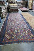 Antique Russian Northwest Kurdish Kilim 6and0393 X 15and0397 Hand Woven Wool Long Rug