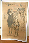 Ww1 French War Poster Linen Backed By Maurice Neumont