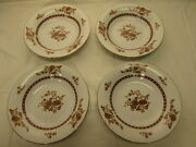 Cathay By Liling Fine China 4 Coupe Soup Bowls Yung Shen 8-1/4 Brown Floral