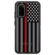 Otterbox Defender For Galaxy S Choose Model Thin Red Line Flag Fire Rescue