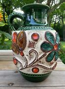 So MCM!!! Bay Keramik W. Germany 95 25 Large Handled Floral Vase