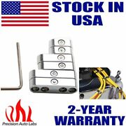 Universal Silver Ignition Spark Plug Wire Looms Seperators 8-9mm