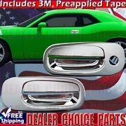 For 2008 2009 2010 Dodge Challenger 2dr Chrome Door Handle Covers Overlays