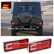 For 02-up Mercedes G-class W463 Rear Bumper Led Tail Light Lamp Red Clear Lens