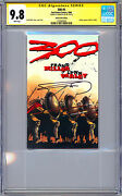 The 300 1 Cgc-ss 9.8 Signed Frank Miller Story Cover And Art Ashcan Reprint 2008