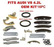 Engine Timing Chain Kit Guides Tensioners Seals 4.2 Audi A6 A6q Allroad, S4,4.2