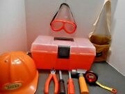Tonka Black And Decker Construction Hat, Toolbox And Tools Play Set For Children