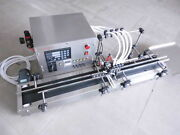 Four Heads Full Automatic Liquid Filling Machine 10-300ml Stainless A