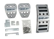 2005-2014 Ford Mustang Shelby Gt Gt500 Billet Gas Brake Clutch Pedal Covers