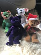 Lot Of Ty Beanie Babies Rare Retired, Tag Errors, Price Is For All 4
