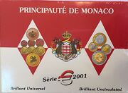 Monaco 2001 Official Euro Set 8 Coins Limited Edition