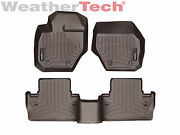 Weathertech Floorliner For Volvo S60/v60/cross Country 1st And 2nd Row - Cocoa