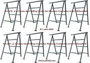 Set Of 8- 4and039 A Frame Aka Folding Trestle For Masonry Contractor Work Cbmscaffold