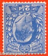 Sg. 276 Wi M17 2 A. 2andfrac12d Bright Blue. Inverted Watermark. Unmounted Mint.