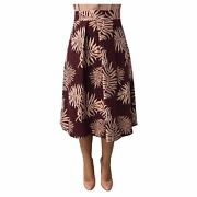 Try Me Skirt Woman 7714/28 Burgundy/pink Beige 62 Polyester Made In Italy
