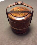Antique Home Decor Chinese Bamboo And Wood Wedding Basket