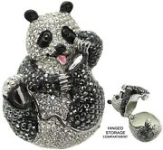 Panda Jeweled Trinket Box With Crystals, By Rucinni, 3
