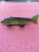Bs9 Wooden Handmade Piketastic Minnesota 7.5 Nice Swimming Spearing Decoy