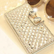 Lady Women Bling Diamond Leather Wallet Flip Case Cover For Iphone 12 11 Pro Max