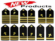 New Us Navy Authentic Christian Chaplain Hard Shoulder Boards Ranks Cp Made