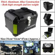 Black Motorcycle Scooter Tail Box Luggage Trunk Top Case For Harley Touring Hot