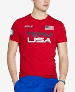 Mens Polo Red Team Usa 2016 Olympics Jersey T-shirt