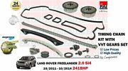 For Land Rover Freelander 2.0 Si4 241bhp 2011- Timing Chain Kit + Vvt Gears Set