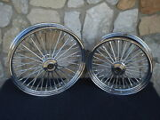 21x3.5 18x4.25 Dna Fatty 40 Mammoth Wheel Set 2004-07 For Harley Touring Bagger