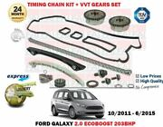 For Ford Galaxy Ecoboost 203bhp 2012-2015 Timing Cam Chain Kit And Vvt Gears Set