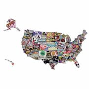 50 States Of Brew - Usa Craft Beer Map Man Cave Wall Decor Gift