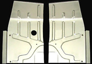 Studebaker C/k Coupe And Hawk 1953-1964 Mini Front Floor Panel Set L And R