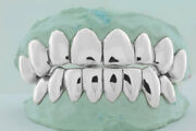 925 Solid Sterling Silver Custom Fit Handmade Perm Cut Design Real Grill Grillz