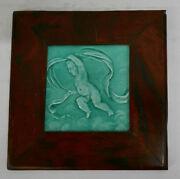 Wood Framed Antique Putti Tile American Victorian