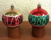 Vintage Glass Christmas Ornaments Nos With Box. German Poland Hand Made 8