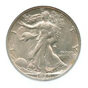 1920-s Walking Liberty Half Dollar Ngc Au 55 Cac Approved