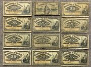 Wholesale Lot Of 50 - Dominion Of Canada Twenty Five Cents Shinaplster Banknotes