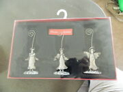 St Nicholas Square New 3 Metal Table Top Christmas Angel Photo Picture Holders