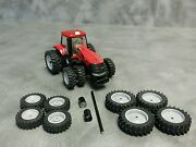 1/64 Farm Custom Scratch 20.8 R46 Tractor Tire Kit Gray Rims + Axels And Spacers