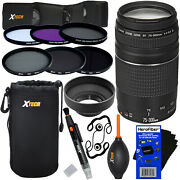 Canon Ef 75-300mm F/4-5.6 Iii Lens +6 Filters +7pc Kit For Rebel Xs Xsi Xt And Xti