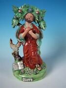 Staffordshire Poterie Pearlwareand039 Saint Peter And039bocage Groupe