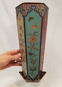 Finest Quality Chinese Japanese 6 Sided Cloisonneand039 Vase With Base