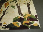 Vintage Marked Edward Fields Tapestry Custom Made Rug Virgin Wool Pile 9and039 X 10and0396