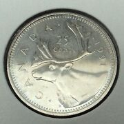 1991 Canada 25 Cents Quarter Uncirculated Canadian Coin B970