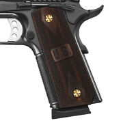 Coolhand 1911 Aggressive Wood Gun Grips Fit Full Size Screws Free Checker H1-dc