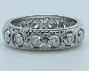 Platinum Vintage Style Eternity Ring 0.47ct Diamonds 1-only At Finger Size 6