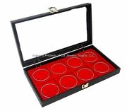 Wholesale Lot Of 6 Glass Top Lid Red 8 Space Jewelry Organizer Display Cases