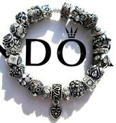 Authentic Pandora Silver Charm Bracelet With Charms Simply Silver Ee63