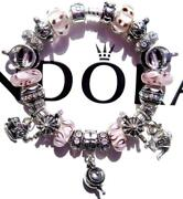 Authentic Pandora Silver Charm Bracelet With Charms Tea Time Ee45